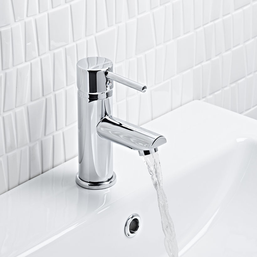 Kinetic tall basin mixer without pop up waste TKN52 jpg